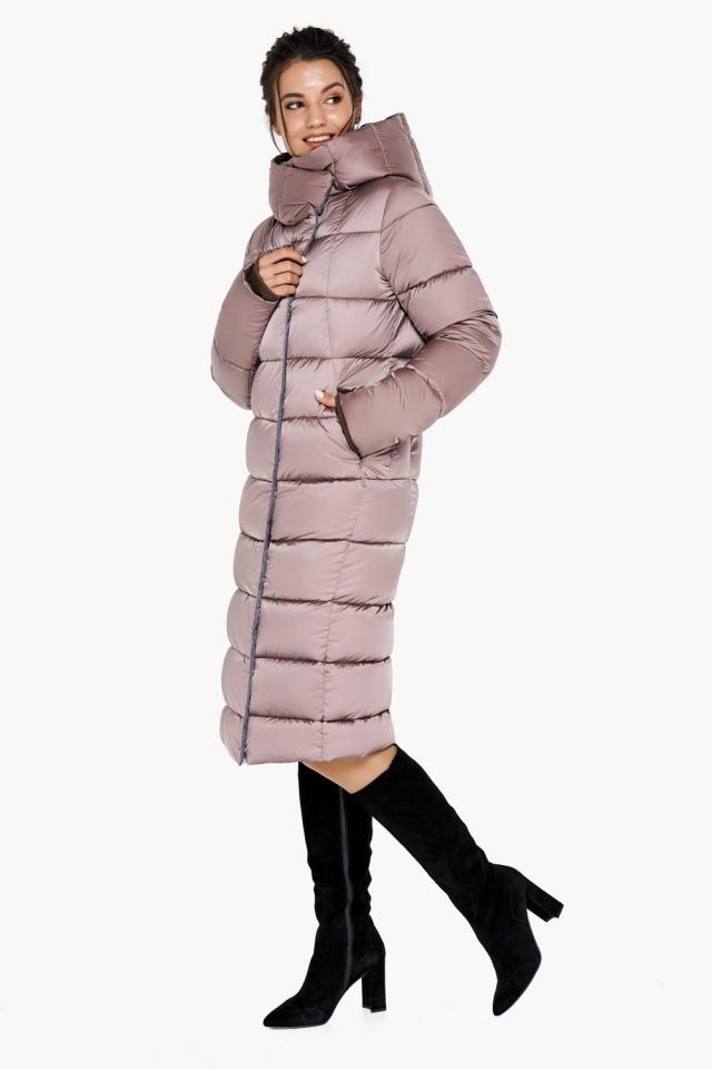 """Зимняя куртка теплая женская цвета пудры модель 31028 Braggart """"Angel's Fluff"""" фото 4"""