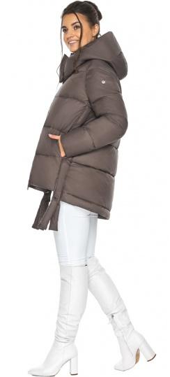 """Куртка женская зимняя с капюшоном цвет капучино модель 43070 Braggart """"Angel's Fluff"""" фото 1"""