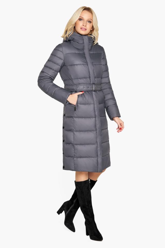 """Зимняя куртка женская цвет муссон модель 31052 Braggart """"Angel's Fluff"""" фото 2"""