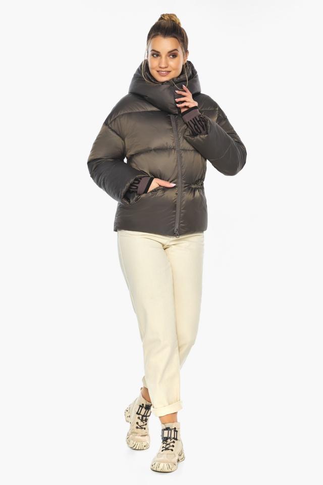 """Капучиновая куртка женская зимняя модель 41975 Braggart """"Angel's Fluff"""" фото 2"""