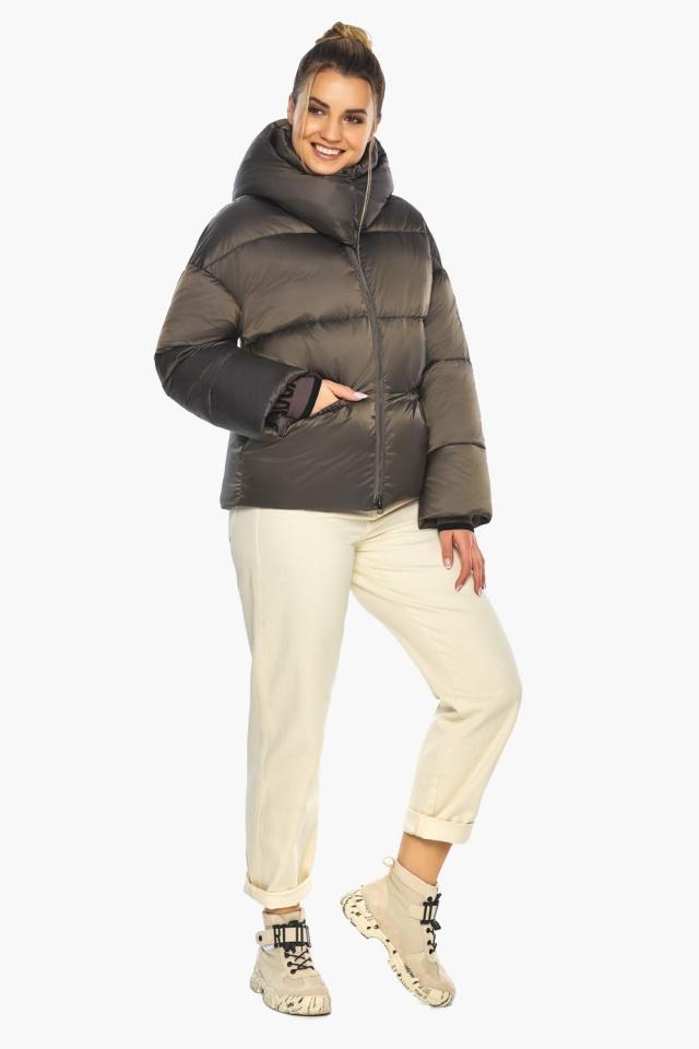 """Капучиновая куртка женская зимняя модель 41975 Braggart """"Angel's Fluff"""" фото 3"""