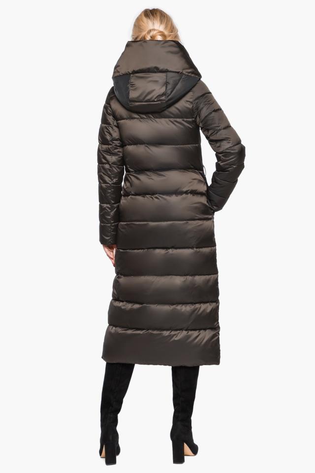 Брендовая зимняя куртка женская цвет капучино модель 31016