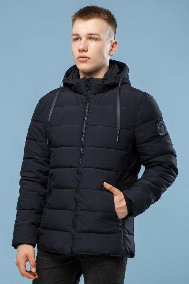 Комфортная куртка мужская черная зимняя модель 6016 Kiro Tokao фото 4