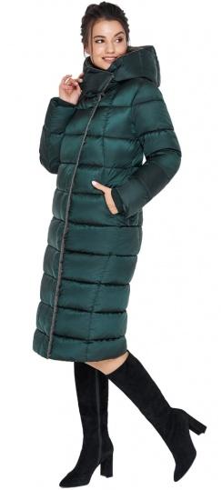"""Удлинённая женская изумрудная куртка зимняя модель 31028 Braggart """"Angel's Fluff"""" фото 1"""