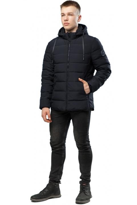 Комфортная куртка мужская черная зимняя модель 6016 Kiro Tokao – Ajento фото 1