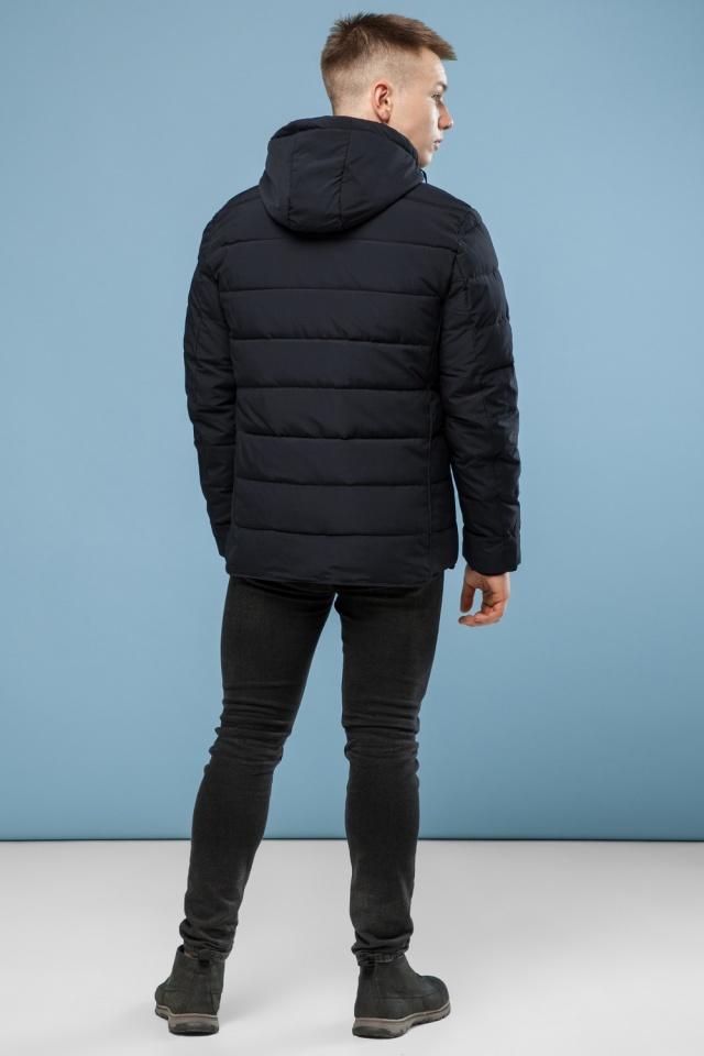 Комфортная куртка мужская черная зимняя модель 6016 Kiro Tokao фото 5