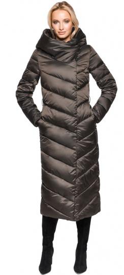 """Брендовая зимняя куртка женская цвет капучино модель 31016 Braggart """"Angel's Fluff"""" фото 1"""