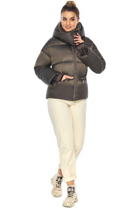 """Капучинова куртка жіноча зимова модель 41975 Braggart """"Angel's Fluff"""" фото 1"""