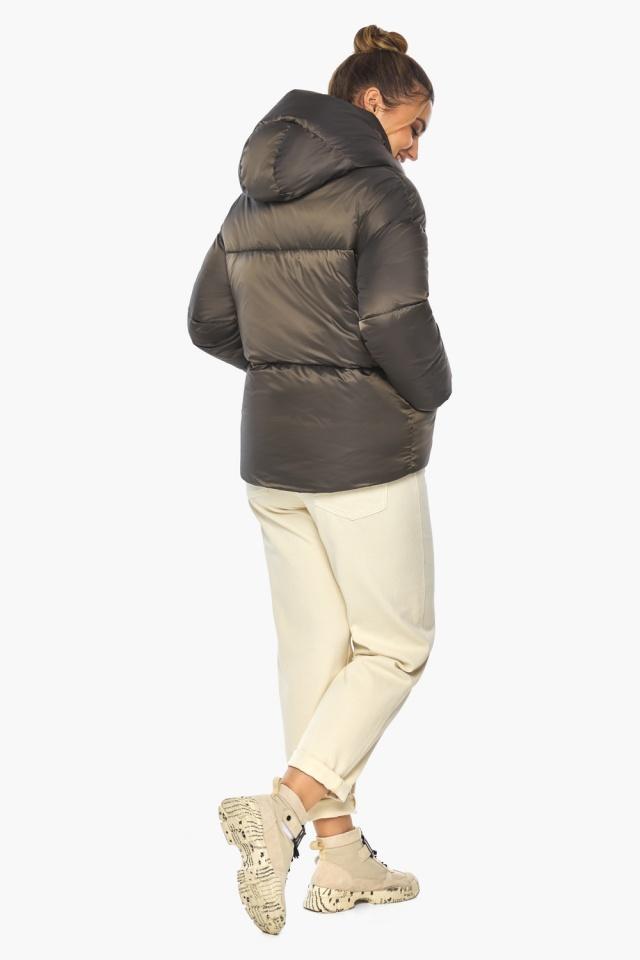 """Капучиновая куртка женская зимняя модель 41975 Braggart """"Angel's Fluff"""" фото 5"""
