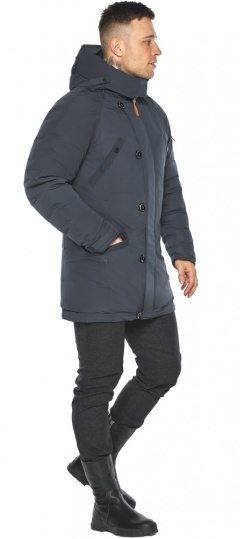 """Куртка – воздуховик мужской стильный зимний графитово-синий модель 30707 Braggart """"Angel's Fluff Man"""" фото 1"""
