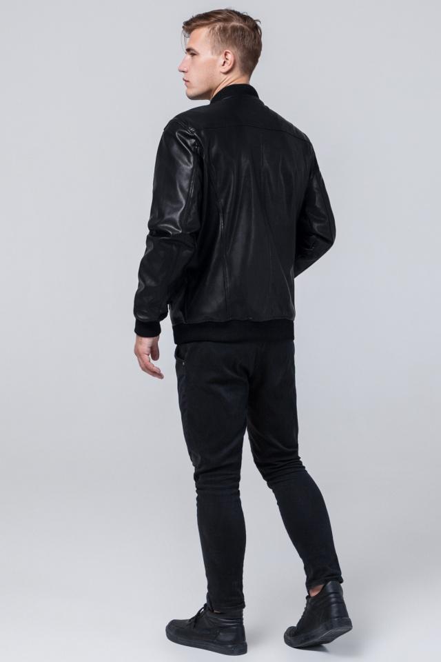 Куртка черная мужская осенне-весенняя молодежная с манжетами модель 4055
