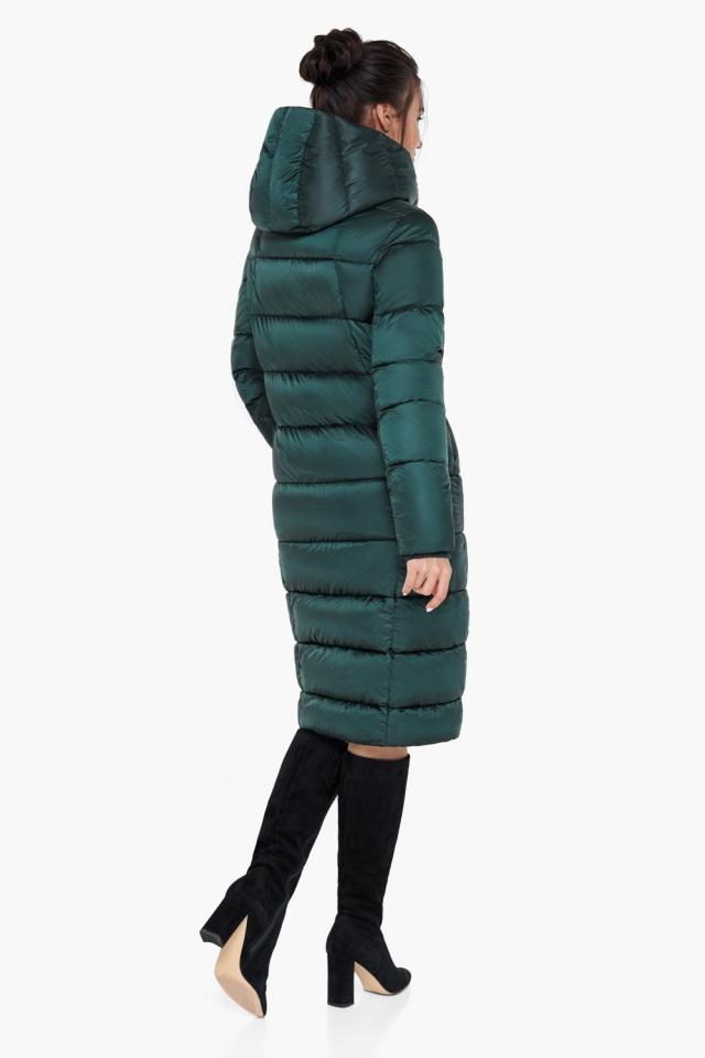"""Удлинённая женская изумрудная куртка зимняя модель 31028 Braggart """"Angel's Fluff"""" фото 6"""