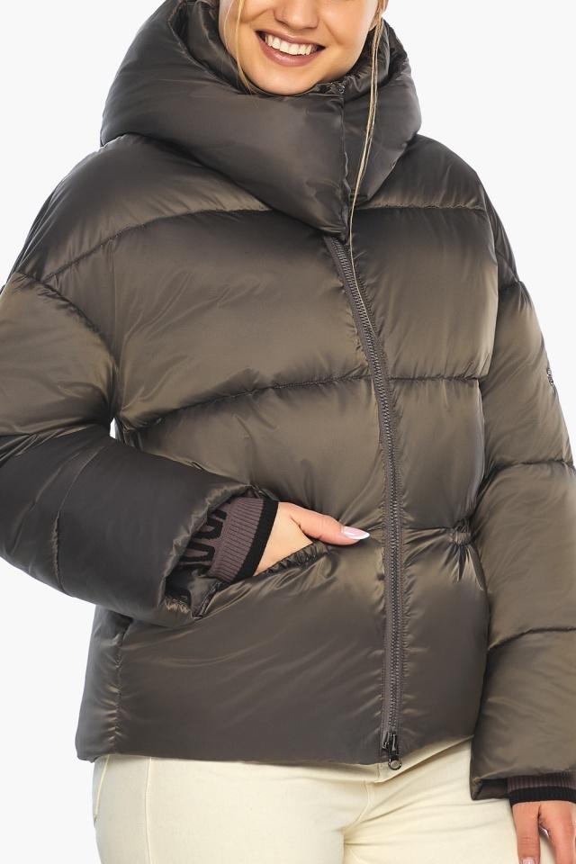 """Капучиновая куртка женская зимняя модель 41975 Braggart """"Angel's Fluff"""" фото 7"""