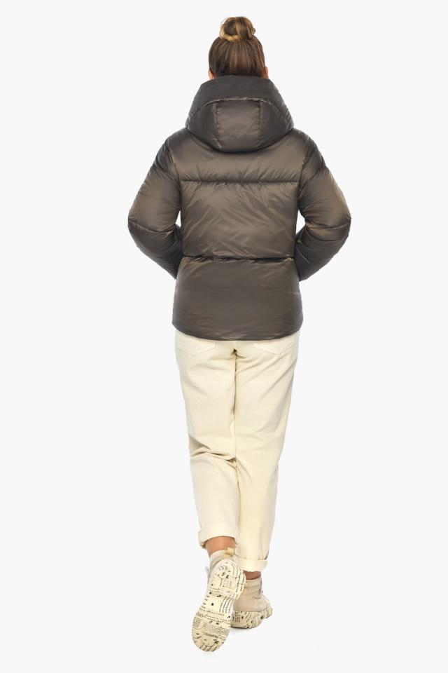 """Капучиновая куртка женская зимняя модель 41975 Braggart """"Angel's Fluff"""" фото 6"""