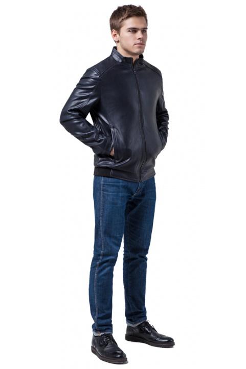 """Якісна куртка з екошкіри темно-синя модель 1588 Braggart """"Youth"""" фото 1"""
