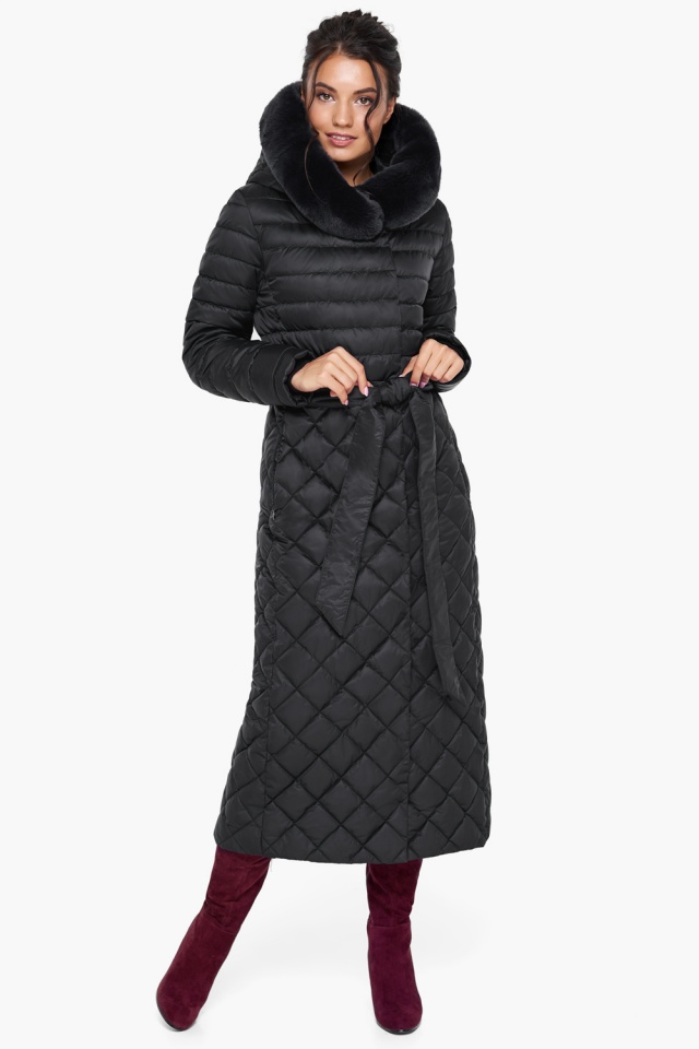 """Женская куртка стеганая цвет черный модель 31012 Braggart """"Angel's Fluff"""" фото 2"""