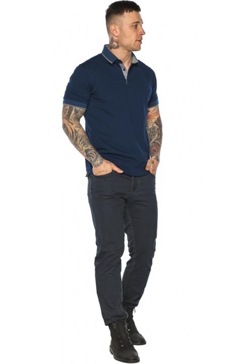 Синя футболка поло чоловіча стильна модель 5104 Braggart фото 1