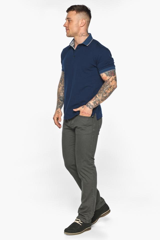 Синяя футболка поло мужская стильная модель 5104 Braggart фото 5