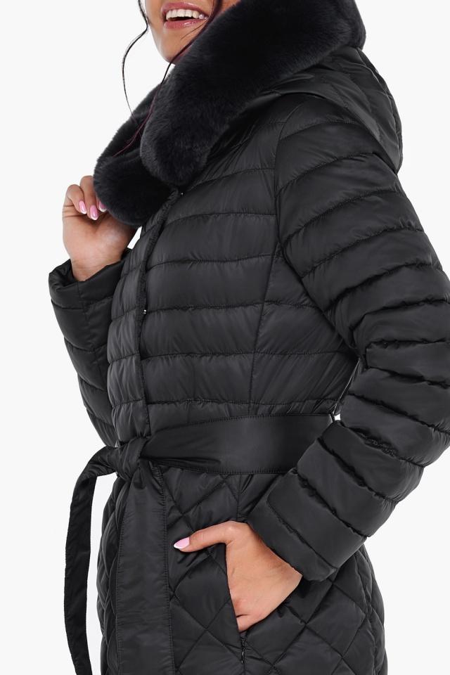 """Женская куртка стеганая цвет черный модель 31012 Braggart """"Angel's Fluff"""" фото 8"""