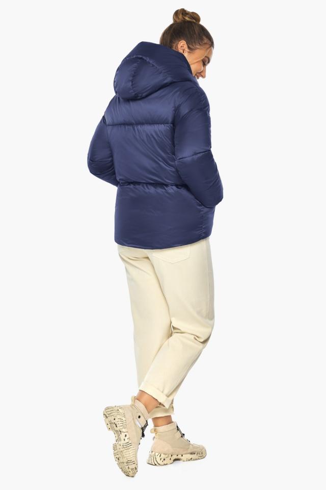 """Зимняя куртка с капюшоном женская синий бархат модель 41975 Braggart """"Angel's Fluff"""" фото 5"""