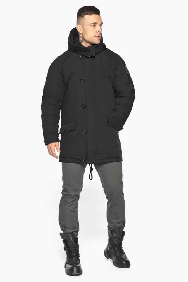 """Куртка – воздуховик для мужчин зимний практичный чёрный модель 30707 Braggart """"Angel's Fluff Man"""" фото 2"""