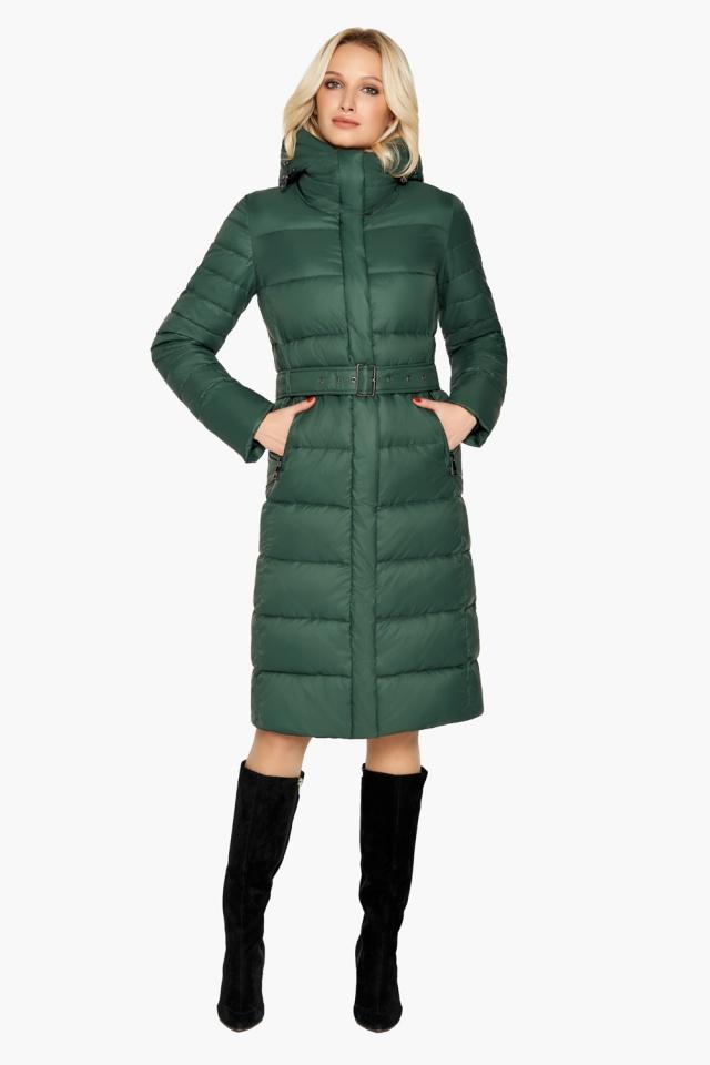 Куртка нефритова жіноча зимова модель 31052