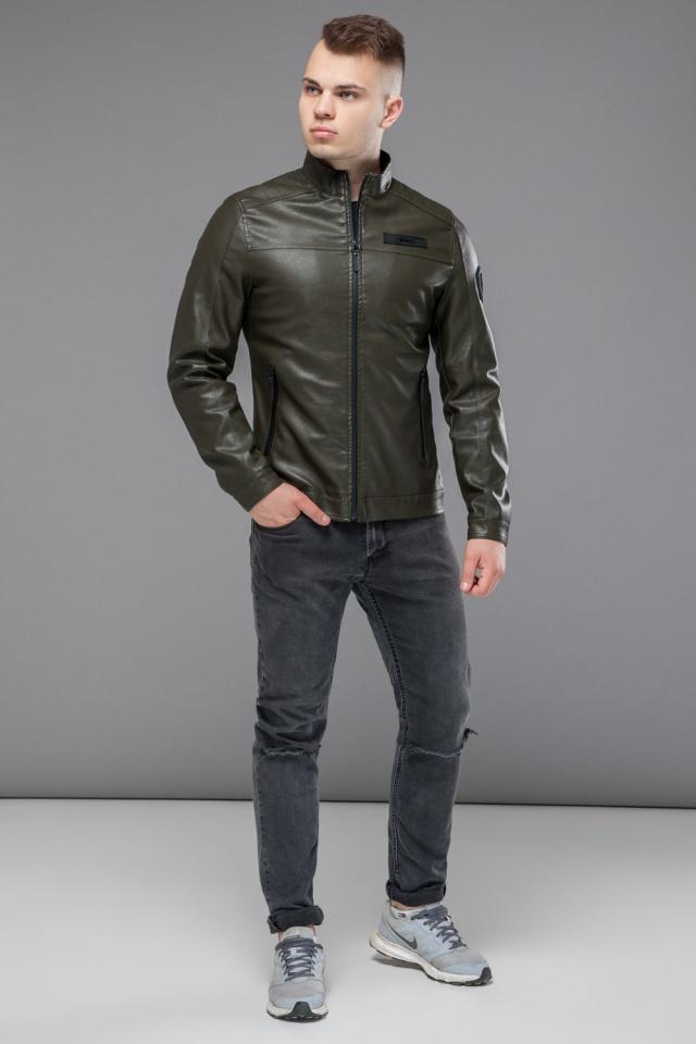 """Весенняя модная куртка для мальчика цвет хаки модель 25825 Braggart """"Youth"""" фото 4"""