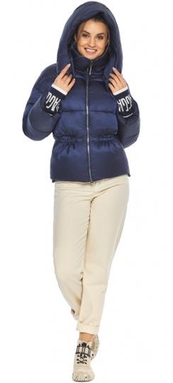 """Зимняя куртка с капюшоном женская синий бархат модель 41975 Braggart """"Angel's Fluff"""" фото 1"""