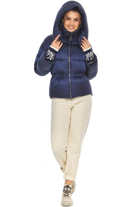 """Зимова куртка з капюшоном жіноча синій оксамит модель 41975 Braggart """"Angel's Fluff"""" фото 1"""