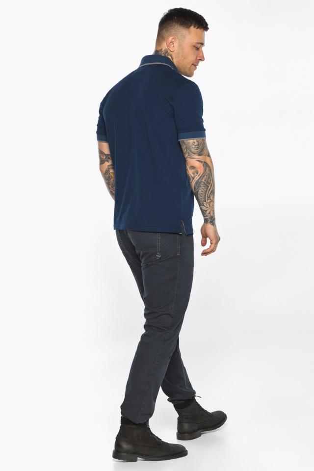 Синяя футболка поло мужская стильная модель 5104 Braggart фото 7