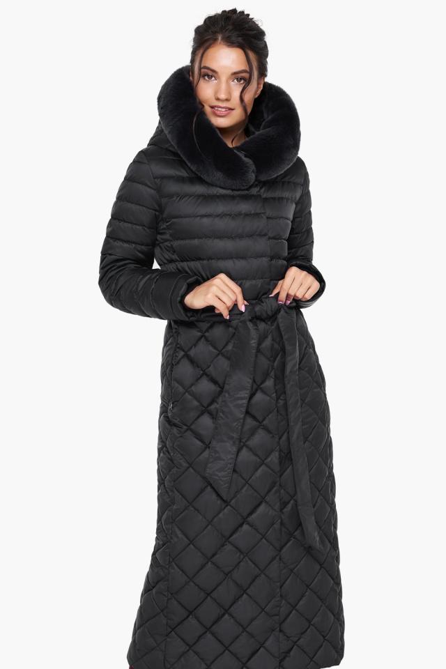 """Женская куртка стеганая цвет черный модель 31012 Braggart """"Angel's Fluff"""" фото 4"""