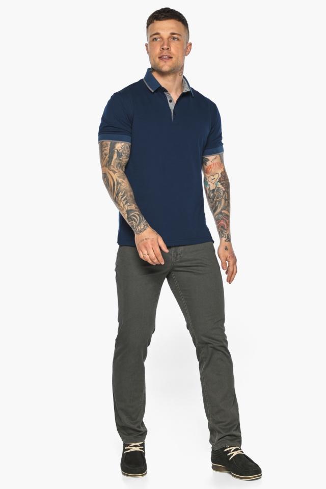 Синяя футболка поло мужская стильная модель 5104 Braggart фото 6