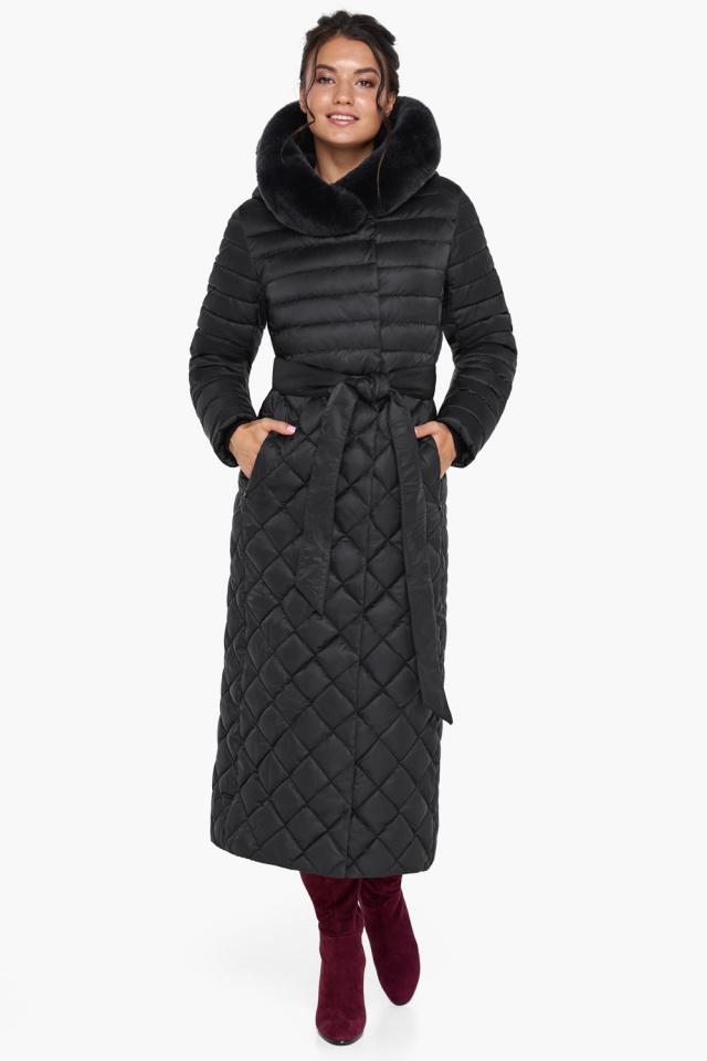 """Женская куртка стеганая цвет черный модель 31012 Braggart """"Angel's Fluff"""" фото 3"""
