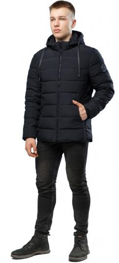 Стильная мужская зимняя куртка чёрная модель 6016 Kiro Tokao – Ajento фото 1
