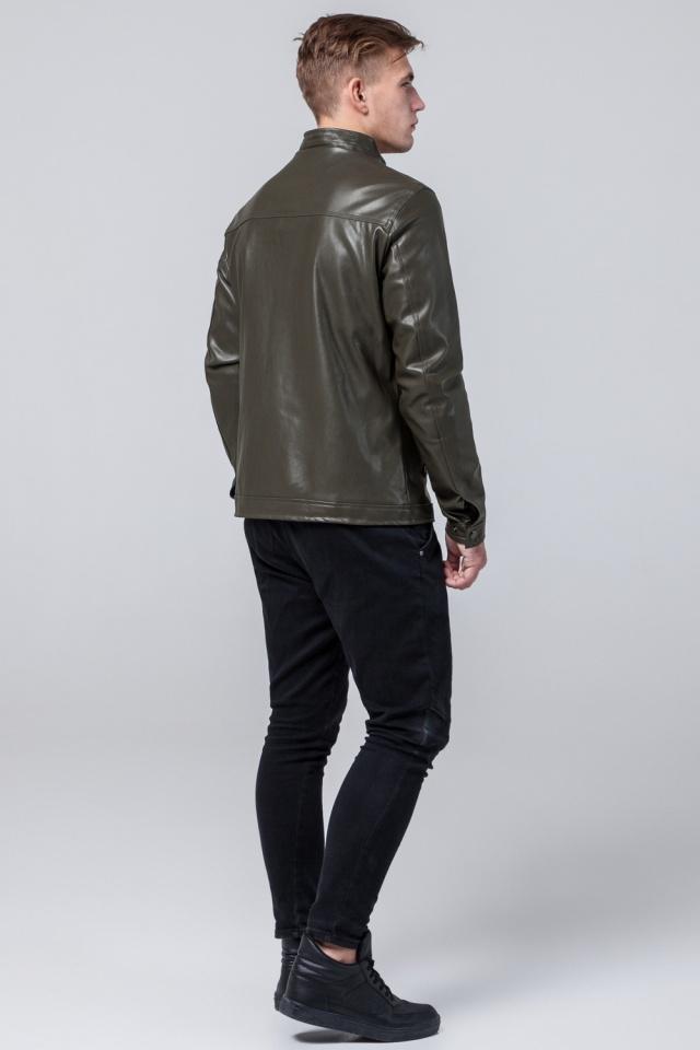 """Стильная кожаная курточка осенняя на мальчика цвет хаки модель 2825 Braggart """"Youth"""" фото 5"""
