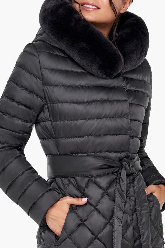 """Женская куртка графитовая оригинальная модель 31012 Braggart """"Angel's Fluff"""" фото 7"""