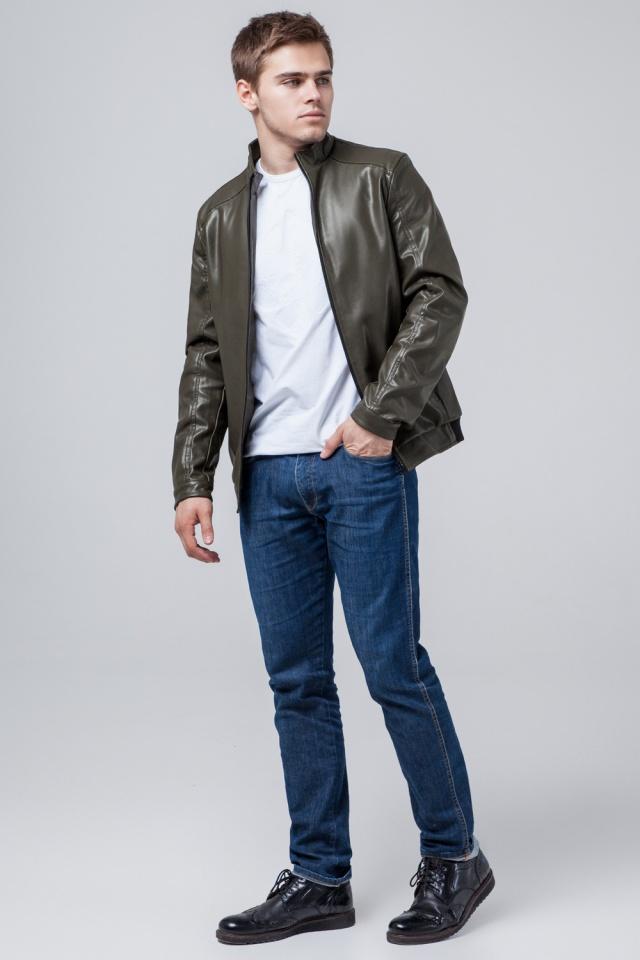 Легкая мужская куртка молодежная осенне-весенняя цвета хаки модель 1588