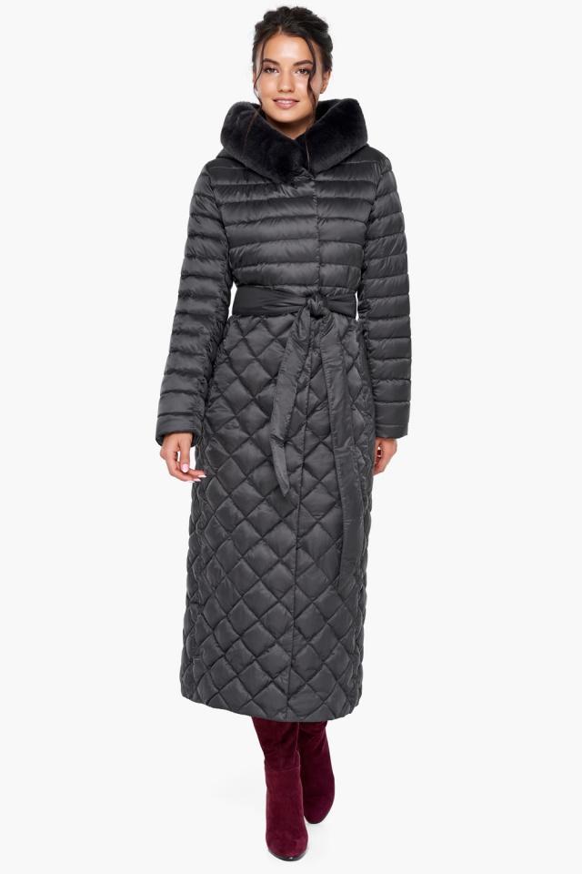 """Женская куртка графитовая оригинальная модель 31012 Braggart """"Angel's Fluff"""" фото 2"""