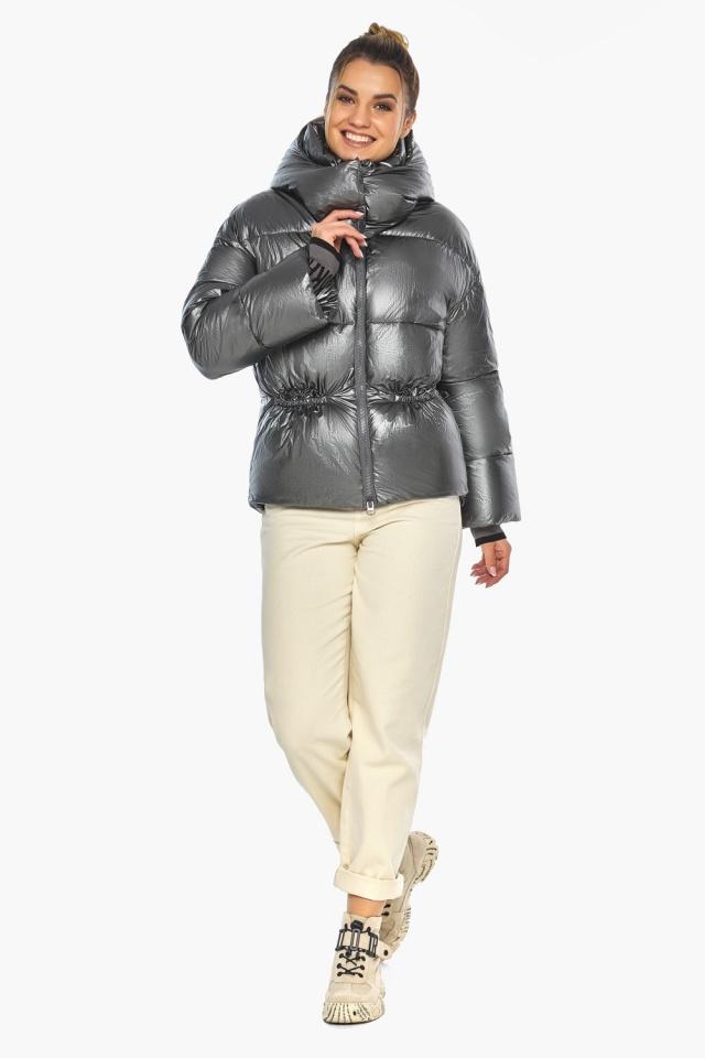 """Женская куртка зимняя цвет темное серебро модель 41975 Braggart """"Angel's Fluff"""" фото 2"""