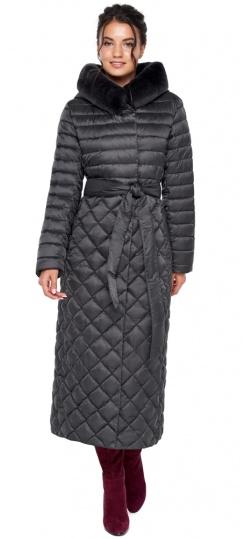 """Женская куртка графитовая оригинальная модель 31012 Braggart """"Angel's Fluff"""" фото 1"""