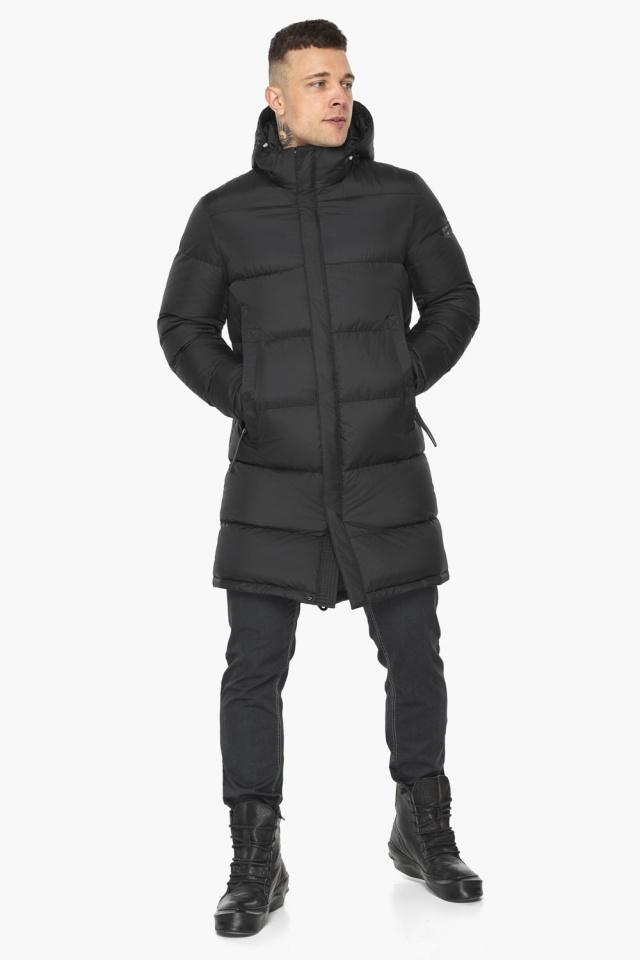 """Зимняя мужская куртка со съёмным капюшоном чёрная модель 49773 Braggart """"Dress Code"""" фото 3"""