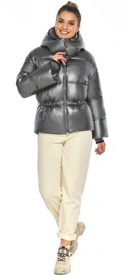 """Женская куртка зимняя цвет темное серебро модель 41975 Braggart """"Angel's Fluff"""" фото 1"""