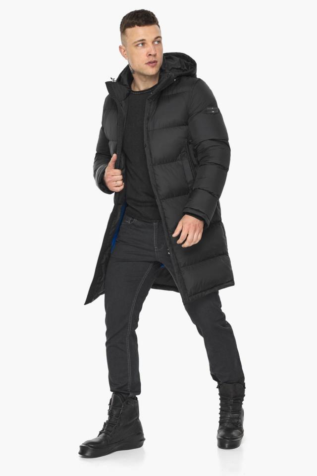 """Зимняя мужская куртка со съёмным капюшоном чёрная модель 49773 Braggart """"Dress Code"""" фото 8"""