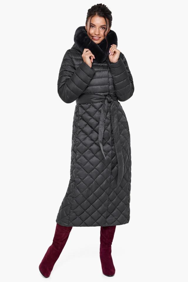 """Женская куртка графитовая оригинальная модель 31012 Braggart """"Angel's Fluff"""" фото 3"""