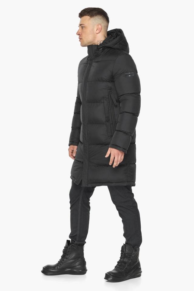 """Зимняя мужская куртка со съёмным капюшоном чёрная модель 49773 Braggart """"Dress Code"""" фото 6"""