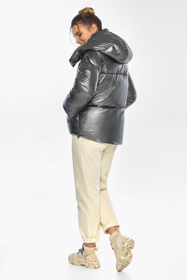 """Женская куртка зимняя цвет темное серебро модель 41975 Braggart """"Angel's Fluff"""" фото 5"""