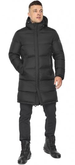 """Зимняя мужская куртка со съёмным капюшоном чёрная модель 49773 Braggart """"Dress Code"""" фото 1"""