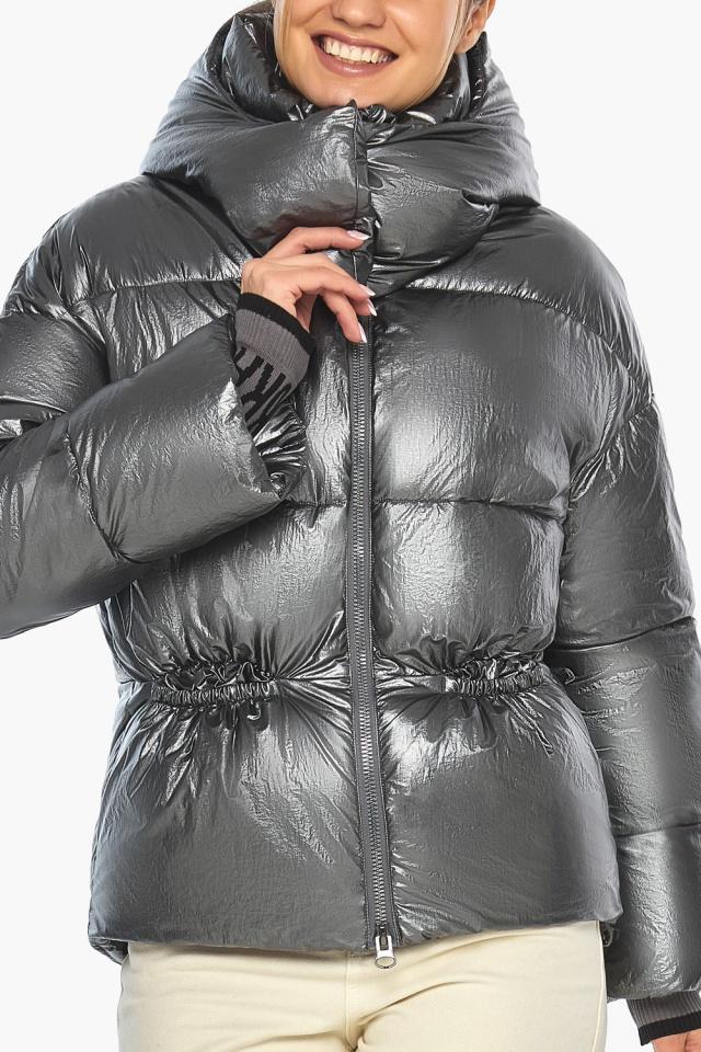 """Женская куртка зимняя цвет темное серебро модель 41975 Braggart """"Angel's Fluff"""" фото 6"""