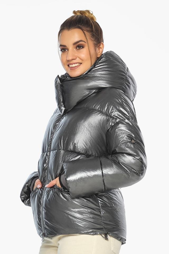 """Женская куртка зимняя цвет темное серебро модель 41975 Braggart """"Angel's Fluff"""" фото 3"""