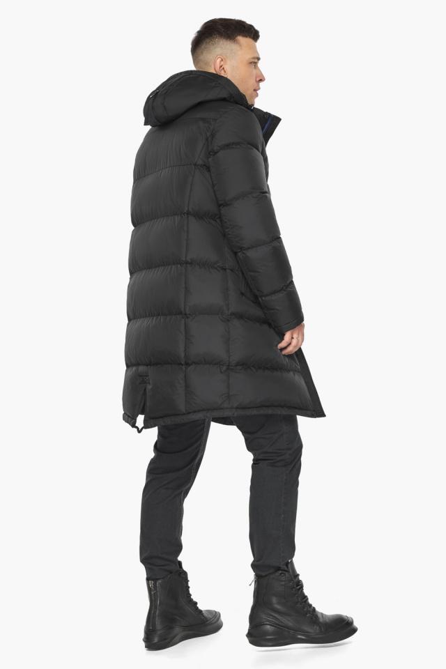 """Зимняя мужская куртка со съёмным капюшоном чёрная модель 49773 Braggart """"Dress Code"""" фото 9"""